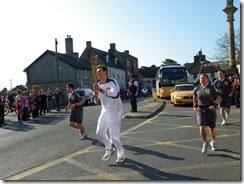 Olympic Torch in Ilchester, Somerset
