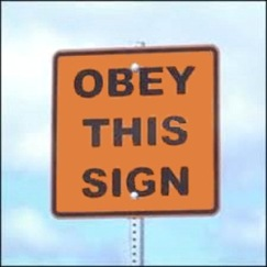 Obey Sign