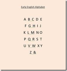 Early English Alphabet