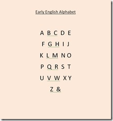 Early English Alphabet